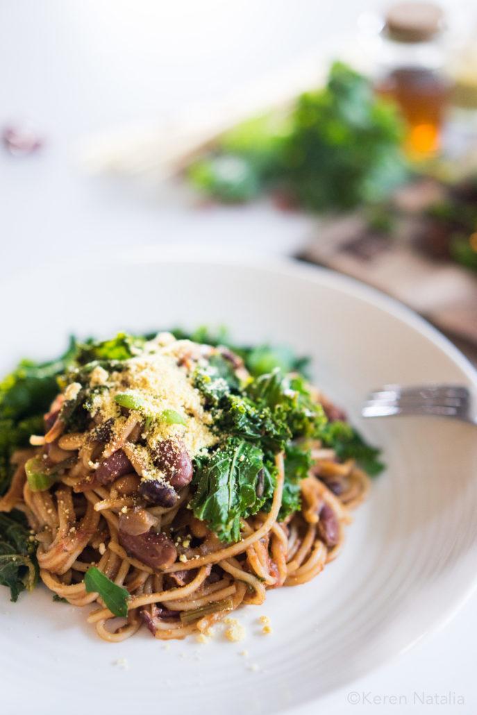 One Pot Spaghetti Bean Bolognese